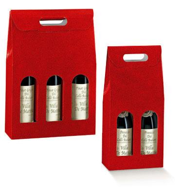 Bordeaux Deep Red Pebble Italian Wine Boxes