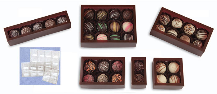 Windowed Brown Frosted Candy Boxes