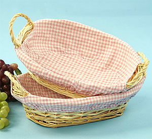 Light Willow Oval Small Tray