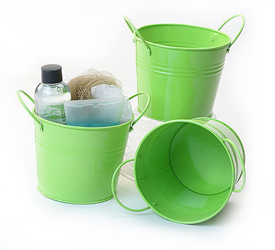 5 inch Lime Painted Side Handle Pail