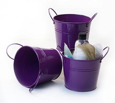 5 inch Purple Side Handle Pail