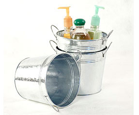 6 1/2in. Galvanized Pail w/Side Handles
