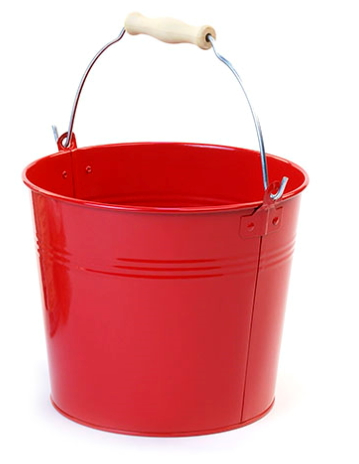 8 1/2in. Red Pail Wooden Handle