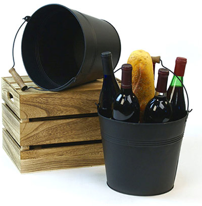 10in. Back Painted Pail Wooden Handle