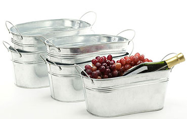 12in. Galvanized Oval Tub w/Side Handles