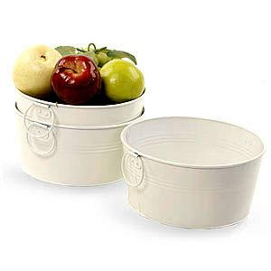 8in. White Galvanized Round Tub