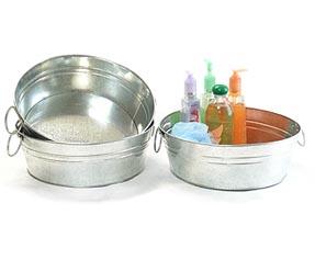 Galvanized Round Handle Tub