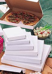 Plain White Clay Coat Pizza Boxes