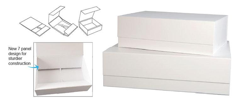 Scratch Resistant MEGA SIZE Matte White Magnetic Box