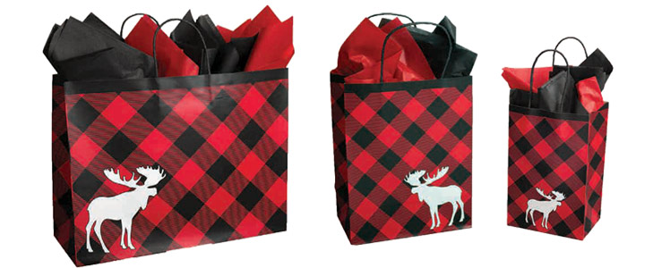 Chalet Designed Paper Shopping Bags