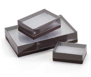 View top Boxes with Chocolate Embossed Base
