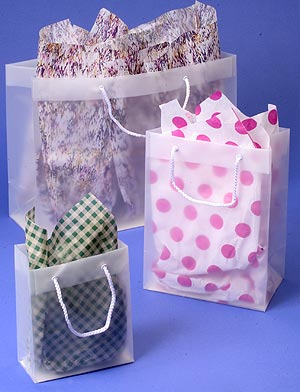 Clear Rope Handle Shopping Tote