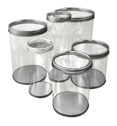 Clear Can With Clear Tin Lid