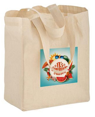 Custom Printed 8x4x10 Cotton/Canvas Totes