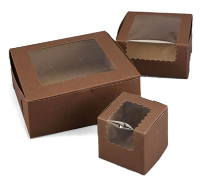 Ohio Valley Cocoa Windowed Cupcake Boxes