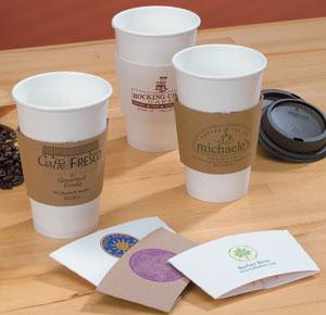 Printed Cardboard Coffee Clutch