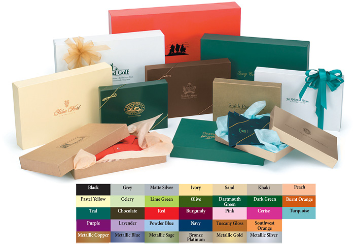 Colored 2 Piece Apparel Boxes