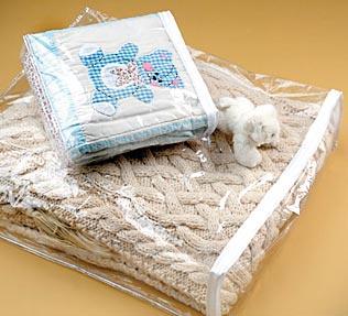 Vinyl Blanket Bags w/Sewn Seams and Top Zipper