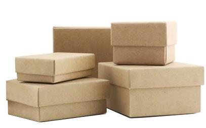 Brown Kraft Jewelry Boxes w/Fiber Insert