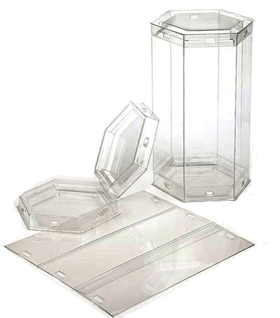 FDA Approved Clear Hexagon Tube