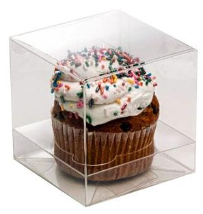 Clear Single Cupcake Box Set