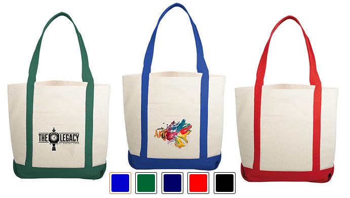 Custom Printed Lightweight Canvas Boat Bag