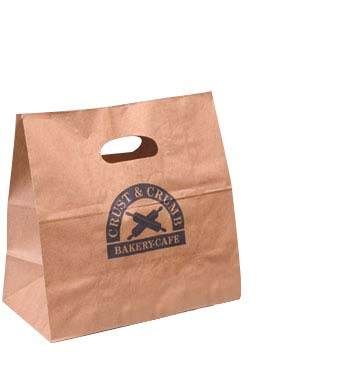 Die-cut Paper Take Out Bag