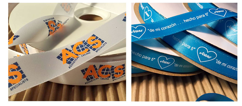 Double Face Custom Printed Satin Ribbon