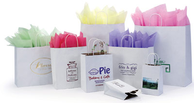 Duet Kraft Color Paper Bags w/Twisted Paper Handles