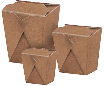 Brown Kraft Chinese No HandleTake-Out Boxes