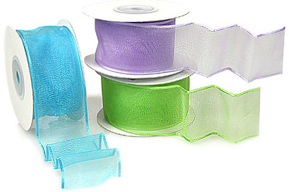 Sheer Wire Edge Eco Ribbon