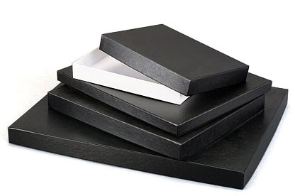 'Ohio Prime' Black Leatherette w/ White Base Photo Boxes