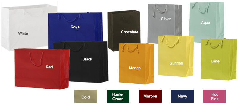 Economy Blank Euro Paper Totes w/ Rope Handles