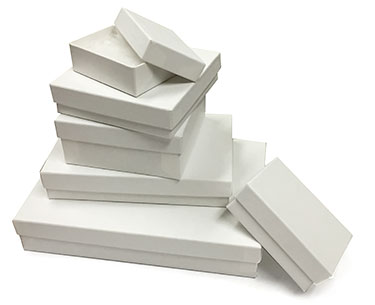 Eco Matte White Kraft Jewelry Boxes