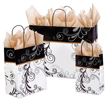 Elegant Flourish Paper Shopping Bags | US Box Corp