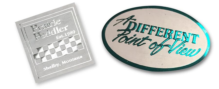 Embossed & Foil Hot Stamped Labels
