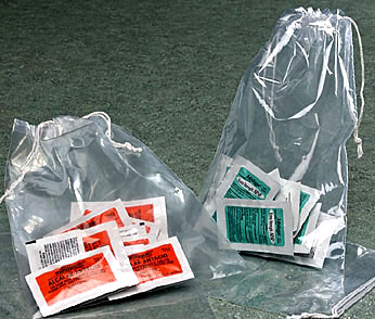 2 Mil Polyethylene Double Drawstring Bags
