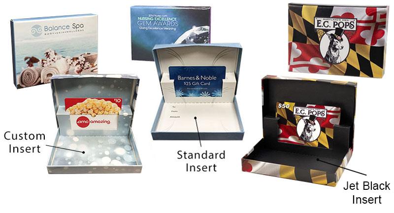 Custom Digital Full Color Flip Gift Card Boxes