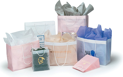 4mil Clear and Pastel Rope Handle Fashion Tote