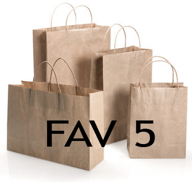 FAV-5 Brown  Paper Twisted Paper Handle Bags