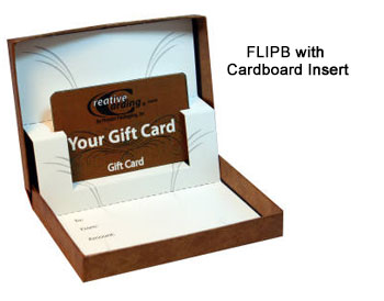 Flip-Box Gift Card Boxes - Auto Pop Up Cardboard Insert