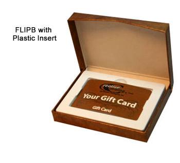Flip-Box Gift Card Boxes - Plastic Insert