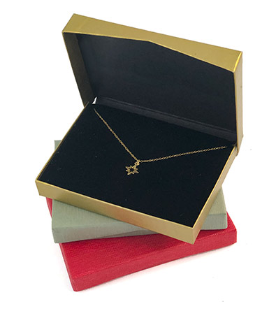Flip-Box Jewelry Box w/ Deluxe Vela Foam Pad