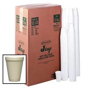 Plain White Foam Cups