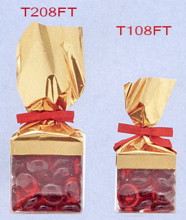 Foil Top Cube Shaped Candy Boxes