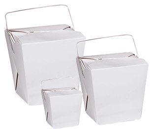Fold-Pak Chinese Take-Out Boxes
