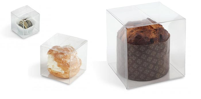 Cube Plastic Candy Boxes