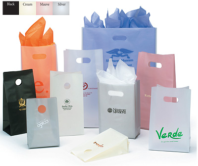 Frosted High Density Bags with DieCut Handles
