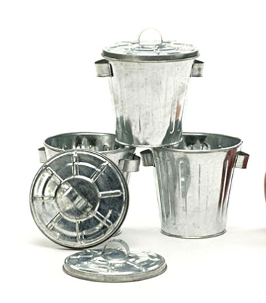 Galvanized Decorative Trash Cans