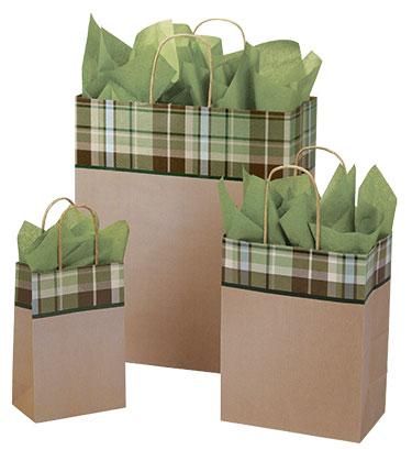 Kensington Plaid Paper Shopping Bags